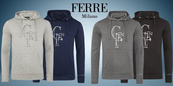 Pánské mikiny s kapucí italské značky Ferré