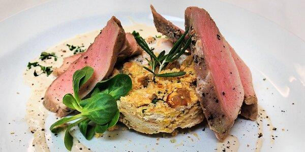 Degustační zvěřinové menu o 5 chodech pro dva