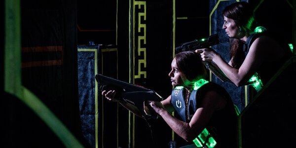 Akční či taktická laser game pro celou partu