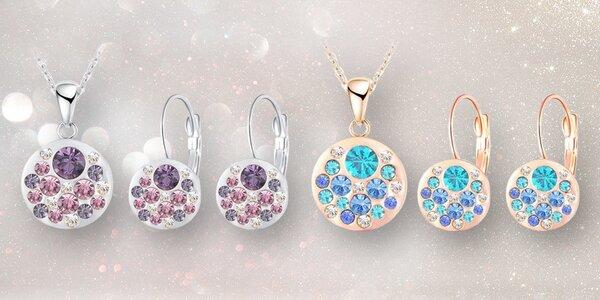 Set třpytivých náušnic a náhrdelníku s rakouskými krystaly