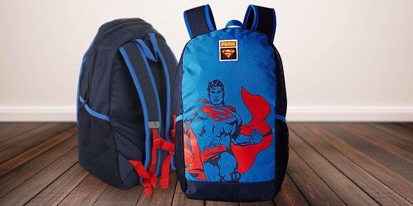 Stylový batoh s pláštěnkou Puma Superman