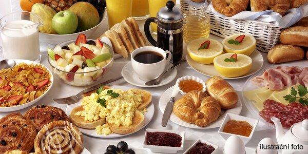 Snídaně na Vltavě s výhledem na Vyšehrad