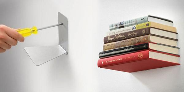 Neviditelná polička na knihy s nosností až 7 kg