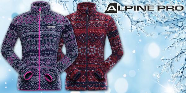 Dámské vzorované mikiny Alpine Pro