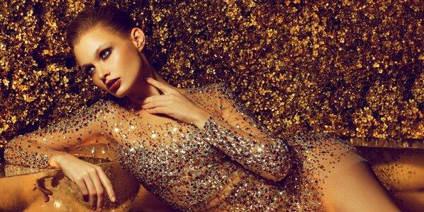 Nabité kosmetické ošetření 24karátovým zlatem