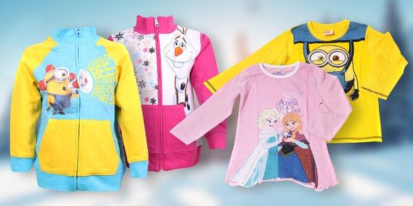 Dětská trička a mikiny s oblíbenými postavičkami