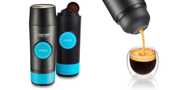 Přenosný elektrický espressovač
