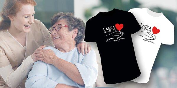 Designové tričko s nápisem Láska nic nestojí