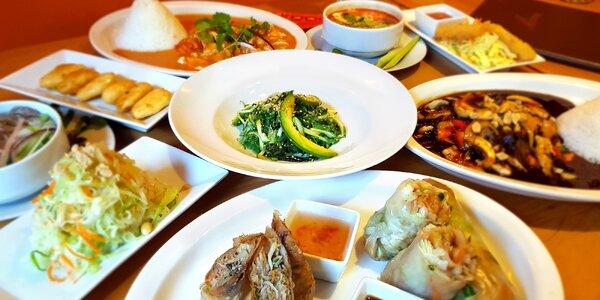 Vietnamské wok menu o 6 nebo 10 chodech s sebou