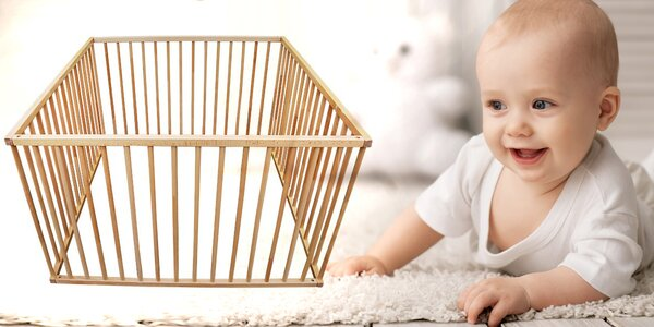 Dětská dřevěná ohrádka