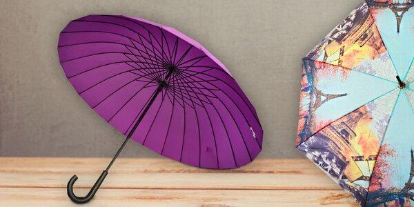 Kvalitní deštníky v mnoha barevných provedeních