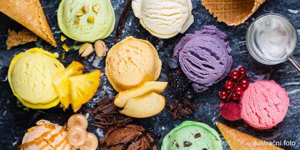 1,5 litru italské zmrzliny do vaničky