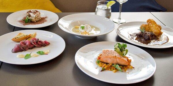 Degustační menu s rybou i zvěřinou pro dva