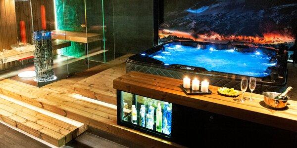Soukromé spa Zima: sauna, vířivka a sekt pro 2