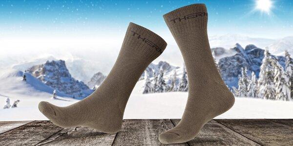 3 páry pánských termo ponožek z české výrobny