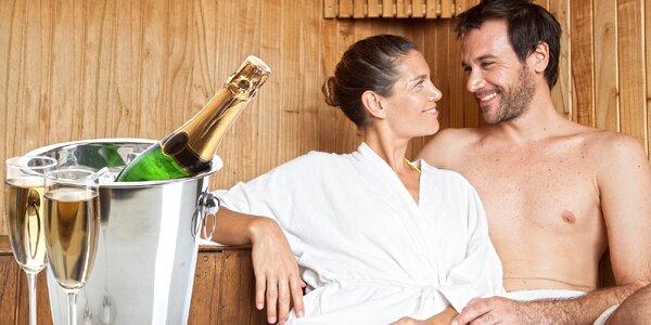 3 hodiny privátní sauny a lahev bublinek pro 2