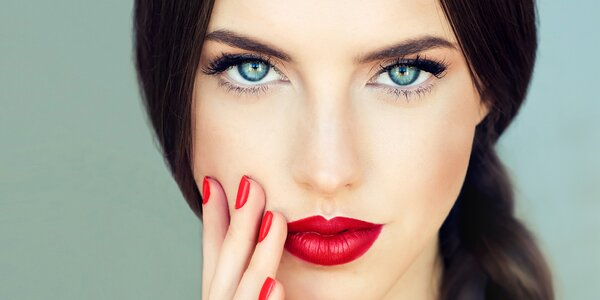 Ošetření pleti s masáží obličeje + líčení