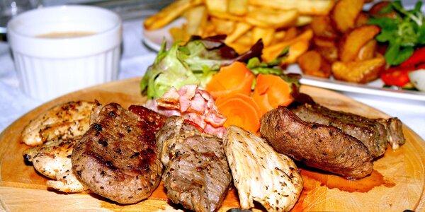 Masová grill párty pro 2–3 osoby včetně příloh