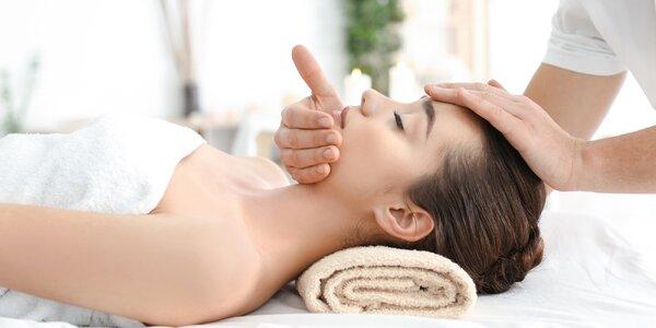 40minutová indická masáž hlavy včetně obličeje