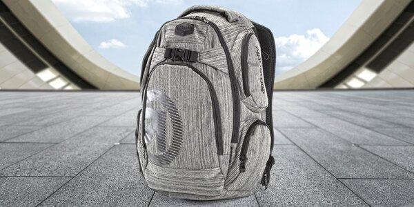 Šedý batoh Meatfly Mirage s kapsou na notebook