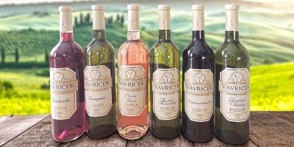3 nebo 6 vín z moravského vinařství Vavříček
