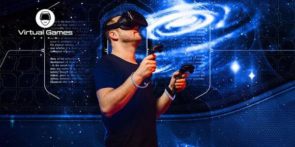 60–120 minut ve virtuální realitě až pro 3 os.