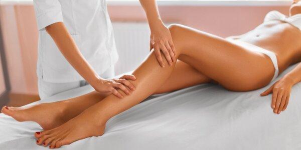 Ruční lymfatická 60minutová masáž nohou