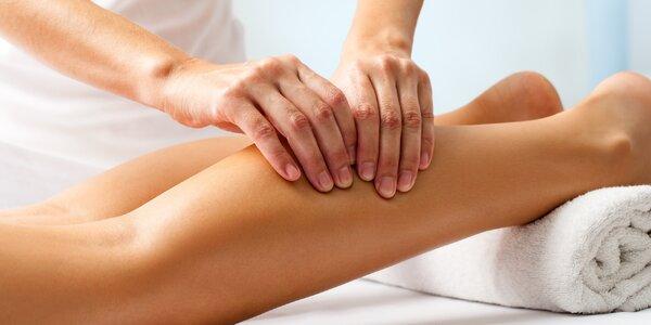 Manuální lymfatická masáž nohou a obličeje