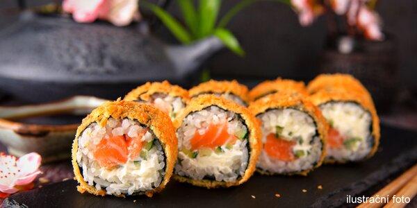 Sushi set s 28 kusy vč. tempury a konvička čaje
