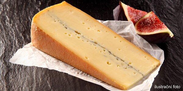 200 g delikatesního sýru Morbier z Francie