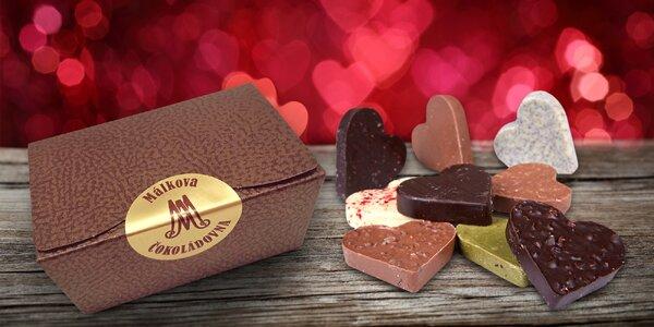 Chuť lásky: ručně vyráběná čokoládová srdíčka