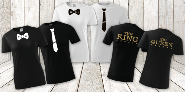 Sehraná pánská a dámská trička pro páry