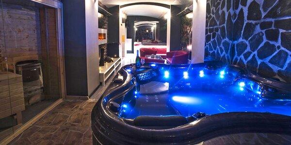 Romantické wellness: finská sauna, krb i vířivka