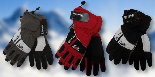 Dámské a pánské lyžařské rukavice Action