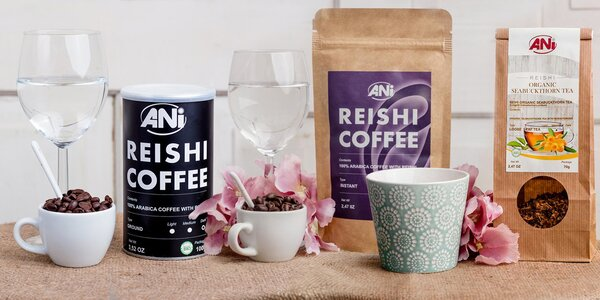Bio čaje a káva z celého světa s houbou Reishi