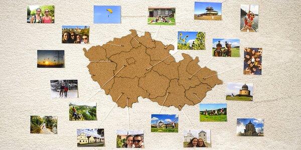 Moje Česko: samolepicí korková mapa na zeď