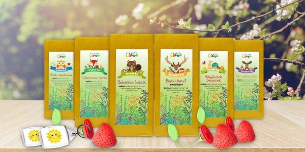Balíčky lahodných bylinných čajů včetně dárečku