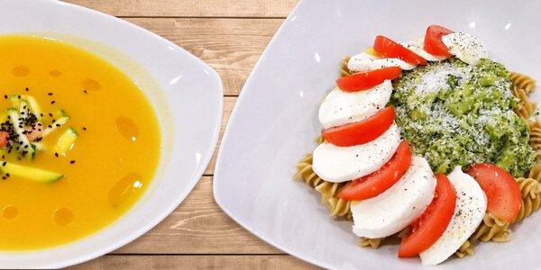 Zdravé obědové menu ve Fitness restauraci