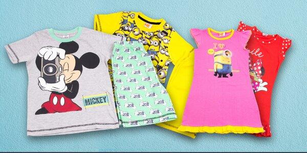 Dětská krátká pyžama a košilky: Filmové motivy