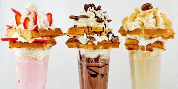 Fantastický milkshake s vaflemi ve Waf-Waf