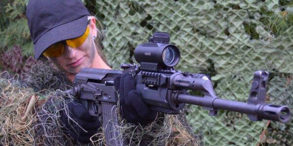 Střelba na střelnici: až 12 zbraní včetně nábojů
