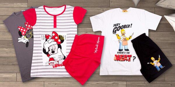Dámská i pánská pyžama a košile Cartoon Mania