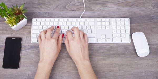Online kurz psaní všemi deseti na klávesnici