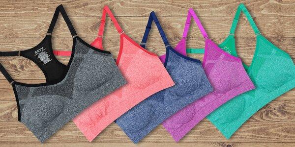 Sportovní melírované podprsenky v pěti barvách