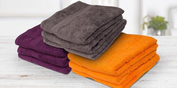 Ručníky a osušky v osmi barvách ze 100% bavlny