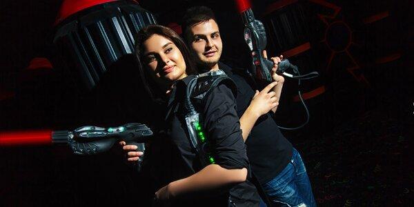 15 min. laser game v nejmodernější 3D aréně