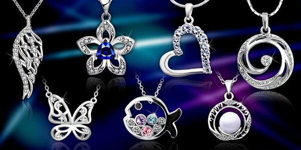 Velký výběr šperků s krystaly Swarovski a zirkony - náhrdelníky a náušnice