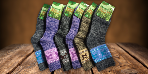 Dámské termo ponožky s bambusovým vláknem