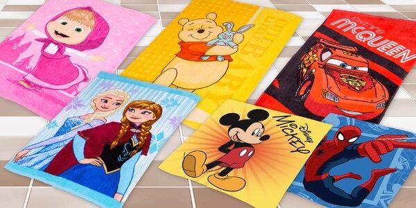 Dětské froté ručníky s oblíbenými postavičkami