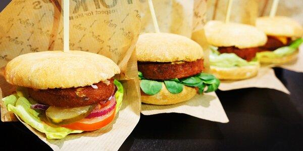 4 veganské mini burgery dle výběru pro dva
